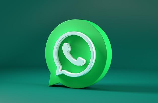 Ikona whatsapp na białym tle