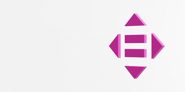 Ikona zmniejszonej nierówności renderowanie 3d