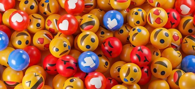 Ikony emoji z wyrazami twarzy.