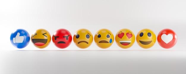 Ikony emoji z wyrazem twarzy.