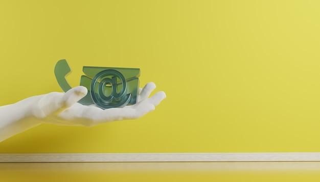 Ikony kontaktów biznesowych w e-mailu w kolorze magenta i renderowaniu adresu d