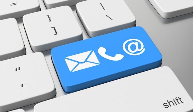 Ikony kontaktów na klawiaturze przycisk