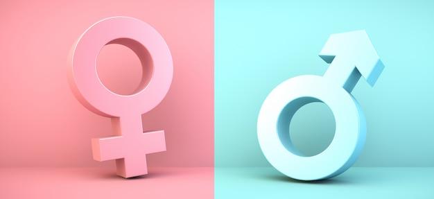 Ikony płci męskiej i żeńskiej