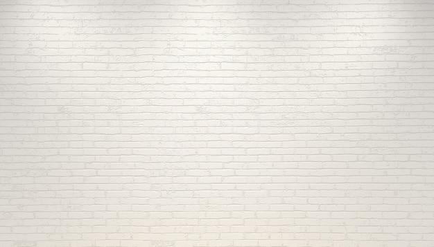 Ilustracja 3d. białe tło ceglany mur. makiety ścian dla marki lub logo.
