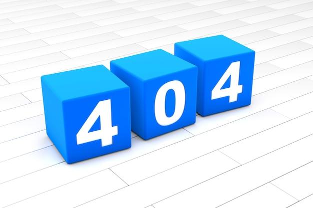 Ilustracja 3d kodu błędu html 404
