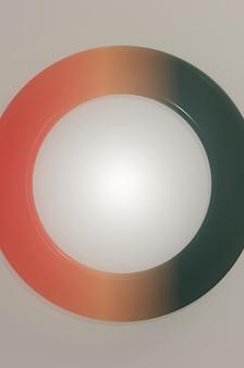 Ilustracja 3d. minimalistyczny projekt w stylu liniowym. ulotka, stylowa broszura, kartka z życzeniami, okładka.