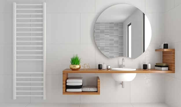 Ilustracja 3d. nowoczesna przeszklona kabina prysznicowa w stylu loftu.