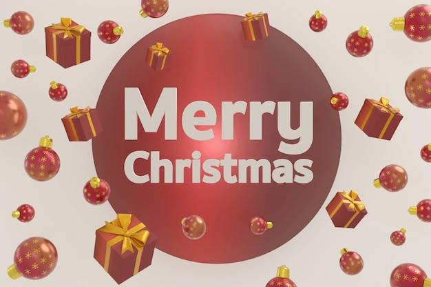 Ilustracja 3d. projekt nowy rok i boże narodzenie. dekoracyjny obiekt świąteczny. baner wakacyjny, plakat internetowy, ulotka, stylowa broszura, kartka z życzeniami, okładka. boże narodzenie tło