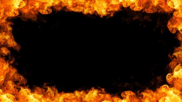 Ilustracja 3d ramki ognia
