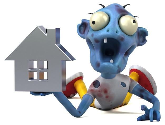 Ilustracja 3d śmieszne zombie