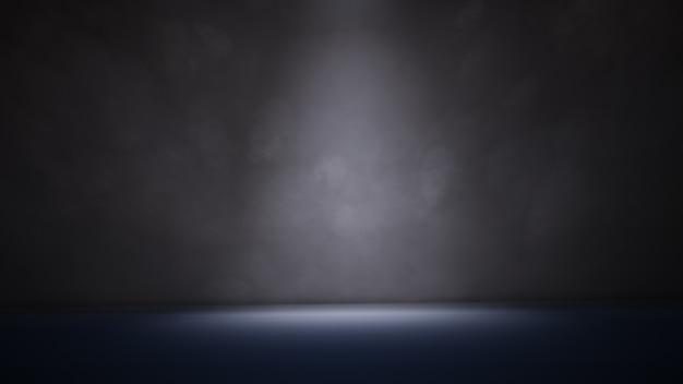 Ilustracja 3d światła punktowego i dymu