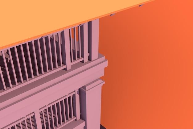 Ilustracja 3d tajski projekt domu