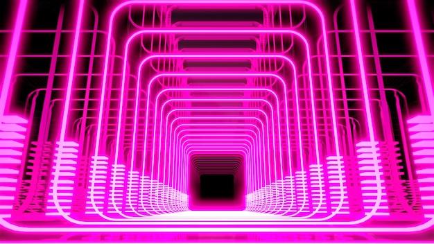 Ilustracja 3d tło reklamy i tapety w scenie pop-artu retro i science fiction z lat 90. renderowania 3d w koncepcji dekoracyjnej.