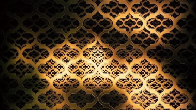 Ilustracja 3d tło reklamy i tapety w stylu art deco i sceny imprezowej mody. renderowania 3d w koncepcji dekoracyjnej.