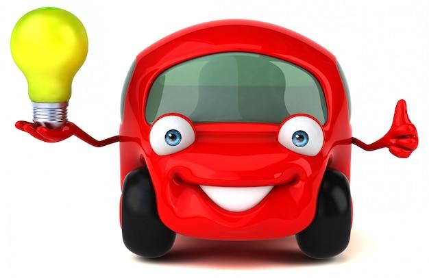 Ilustracja 3d zabawy samochodem