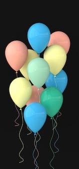 Ilustracja błyszczących pastelowych kolorowych balonów
