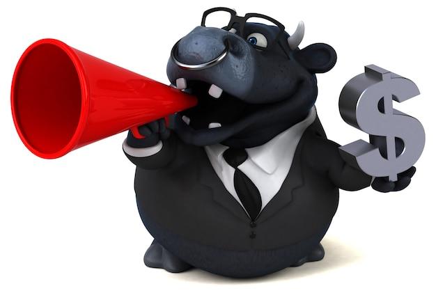 Ilustracja czarny byk