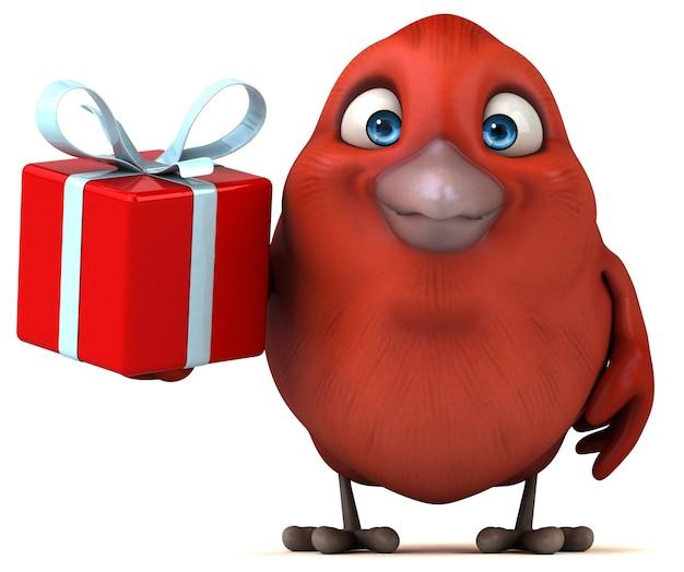 Ilustracja czerwony ptak