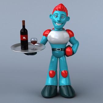 Ilustracja czerwony robot