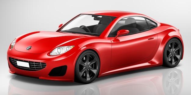 Ilustracja czerwony samochód