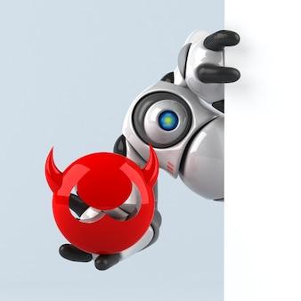 Ilustracja duży robot