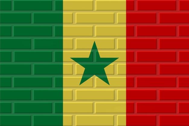 Ilustracja flaga senegalu