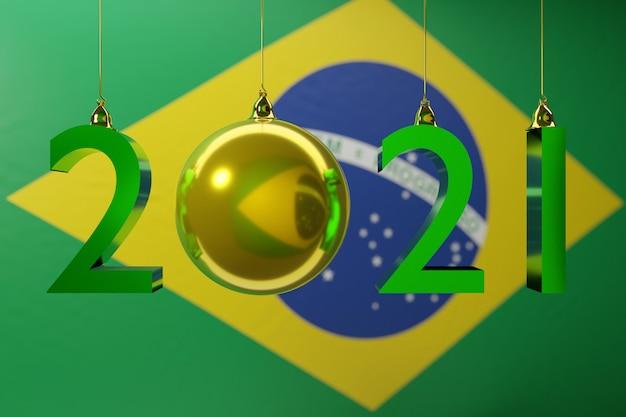 Ilustracja flagi narodowej brazylii