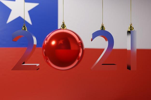 Ilustracja flagi narodowej chile