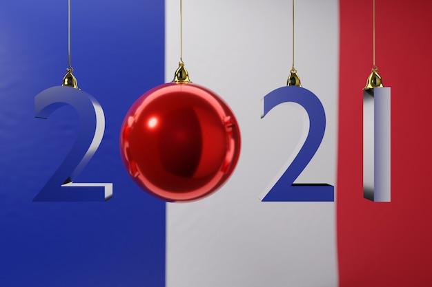 Ilustracja flagi narodowej francji