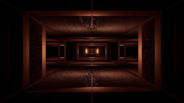 Ilustracja geometrycznych kształtów z neonowymi światłami laserowymi - idealne do tła i tapet