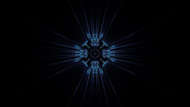 Ilustracja koła z abstrakcyjnymi efektami światła neonowego - idealne na futurystyczne tło