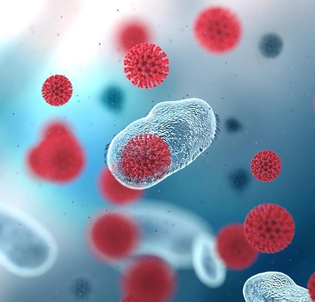 Ilustracja komórki koronawirusa
