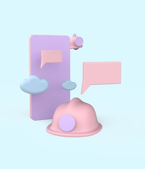Ilustracja koncepcja konserwacji. renderowanie 3d premium photo