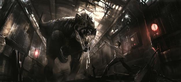 Ilustracja koncepcji dinozaurów.