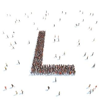 Ilustracja listu z ludźmi