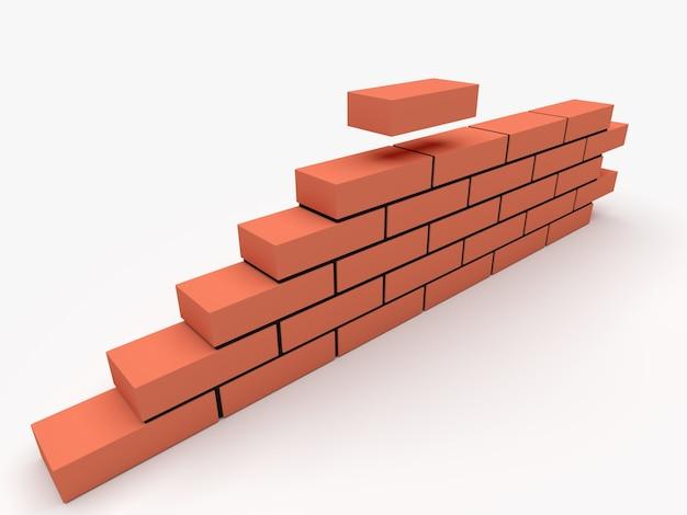 Ilustracja muru. koncepcja budowlano-konstrukcyjna.