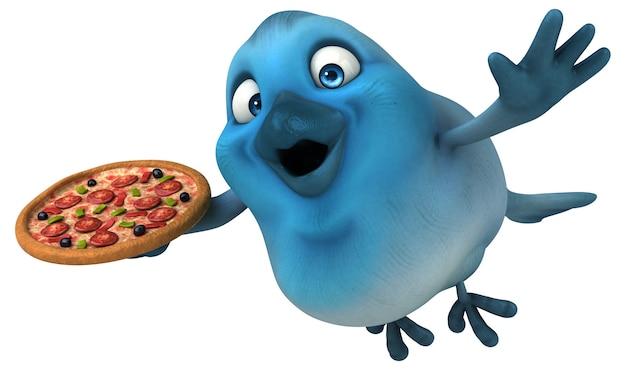 Ilustracja niebieski ptak