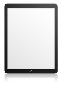Ilustracja nowoczesny komputer typu tablet z pustym ekranem na białym tle