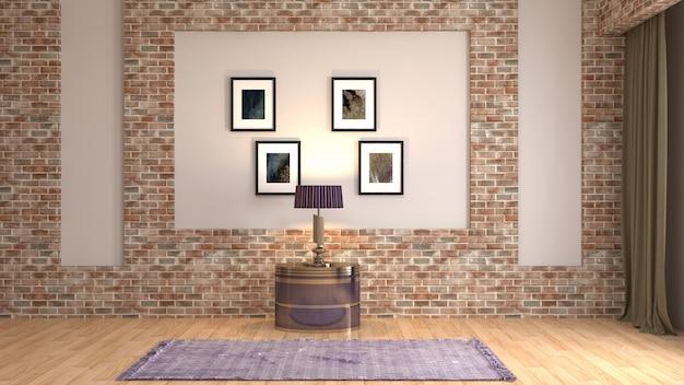 Ilustracja projektu wnętrza pokoju
