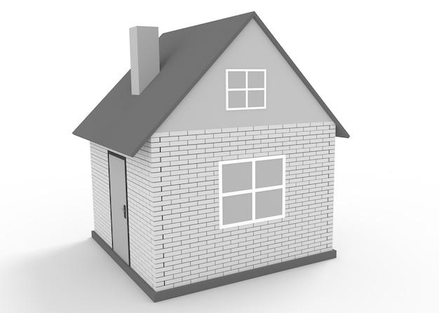 Ilustracja prosty dom na białym tle