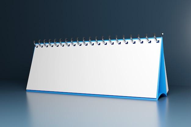 Ilustracja puste biurko kalendarza looseleaf notebook na szaro