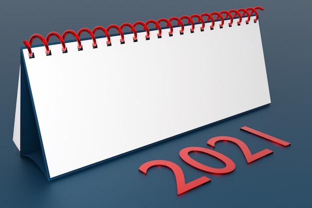 Ilustracja puste biurko kalendarza looseleaf notebook z napisem
