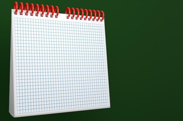 Ilustracja pusty kalendarz na biurko notatnik