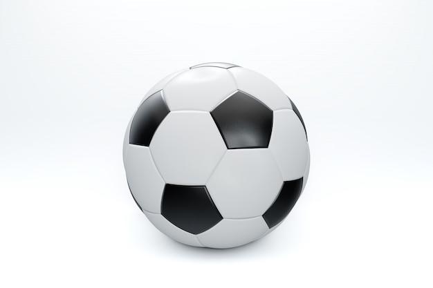 Ilustracja renderowania 3d. piłka nożna lub piłka nożna na białym tle ze ścieżką przycinającą na białym tle.
