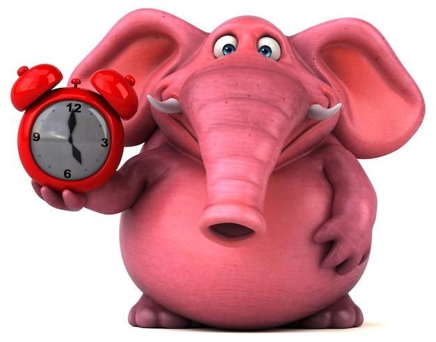 Ilustracja różowy słoń