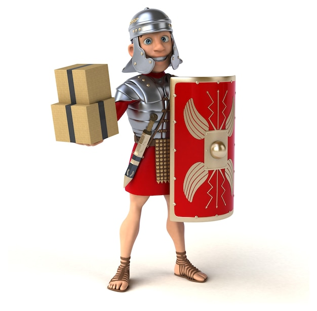 Ilustracja rzymski żołnierz