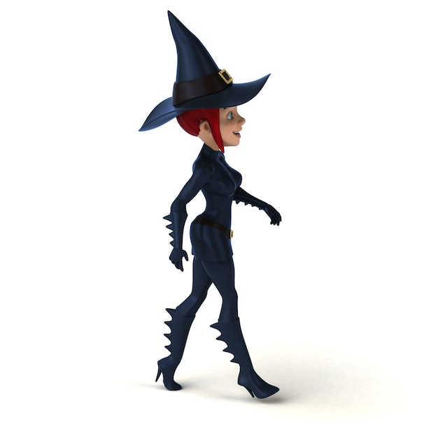 Ilustracja sexy czarownica