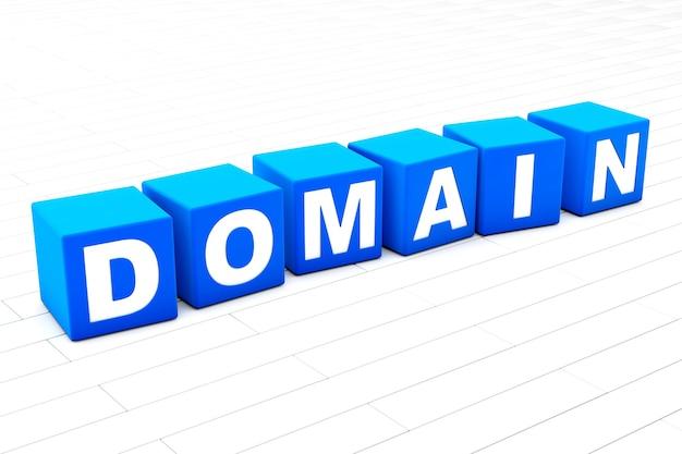 Ilustracja słowa domeny