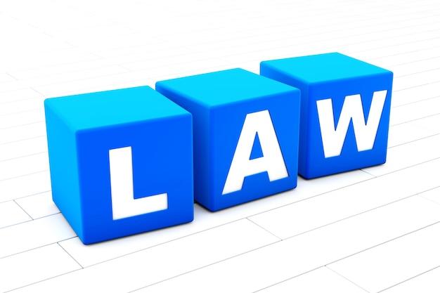 Ilustracja słowa prawa
