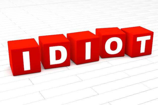Ilustracja słowo idiota